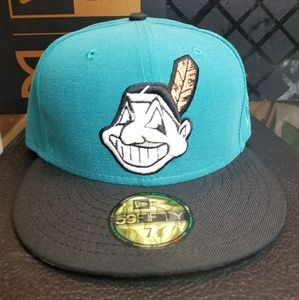 New era indians 7 1/2 fitted cap